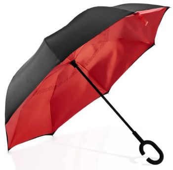 Personalised Reversible Umbrella - Red